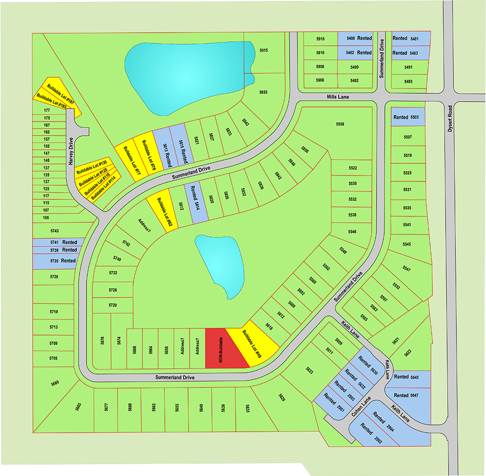Summerland Townhomes - Plat Map